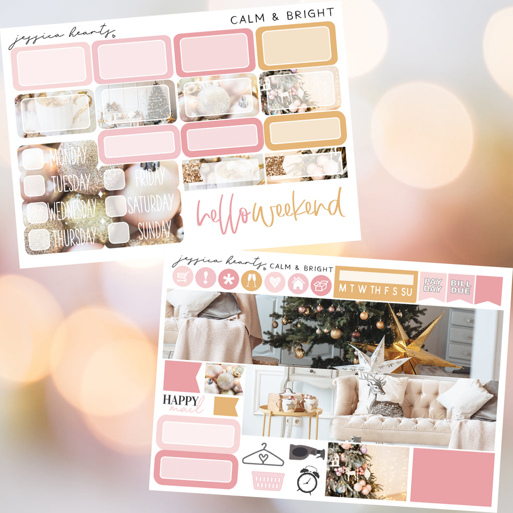 Calm & Bright MINI Sticker Kit