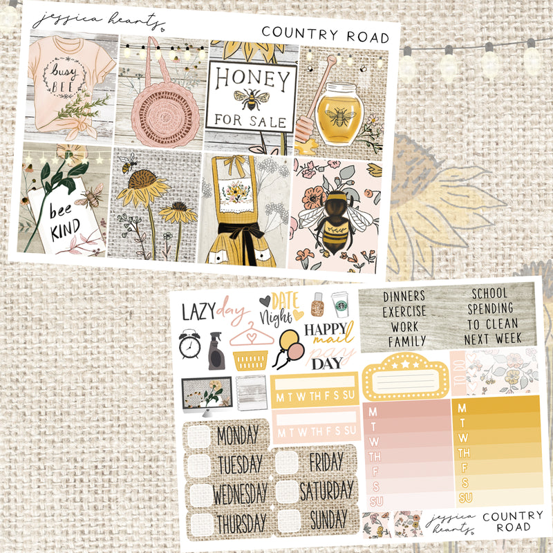 Country Road Weekly Sticker Kit