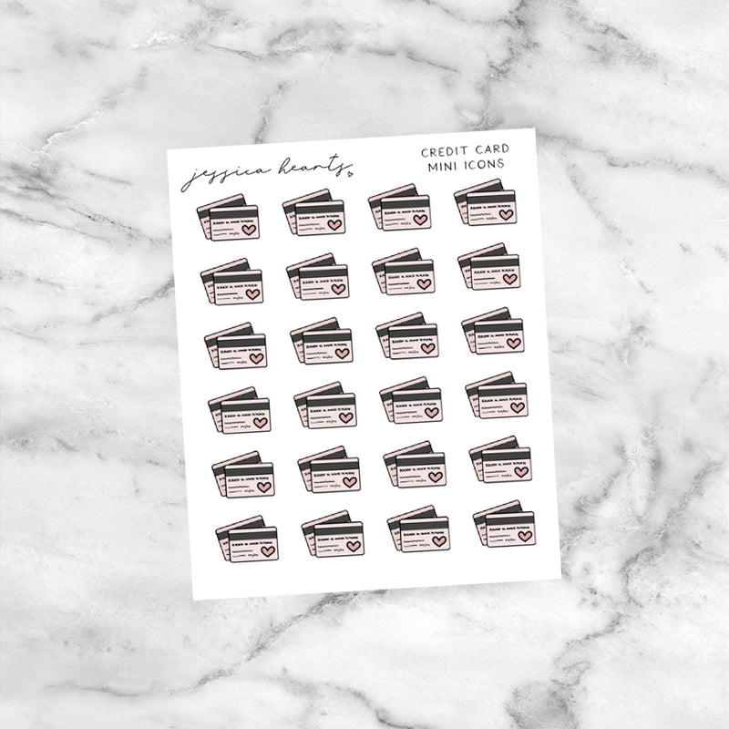 Credit Card Mini Icons (Transparent Matte Paper)