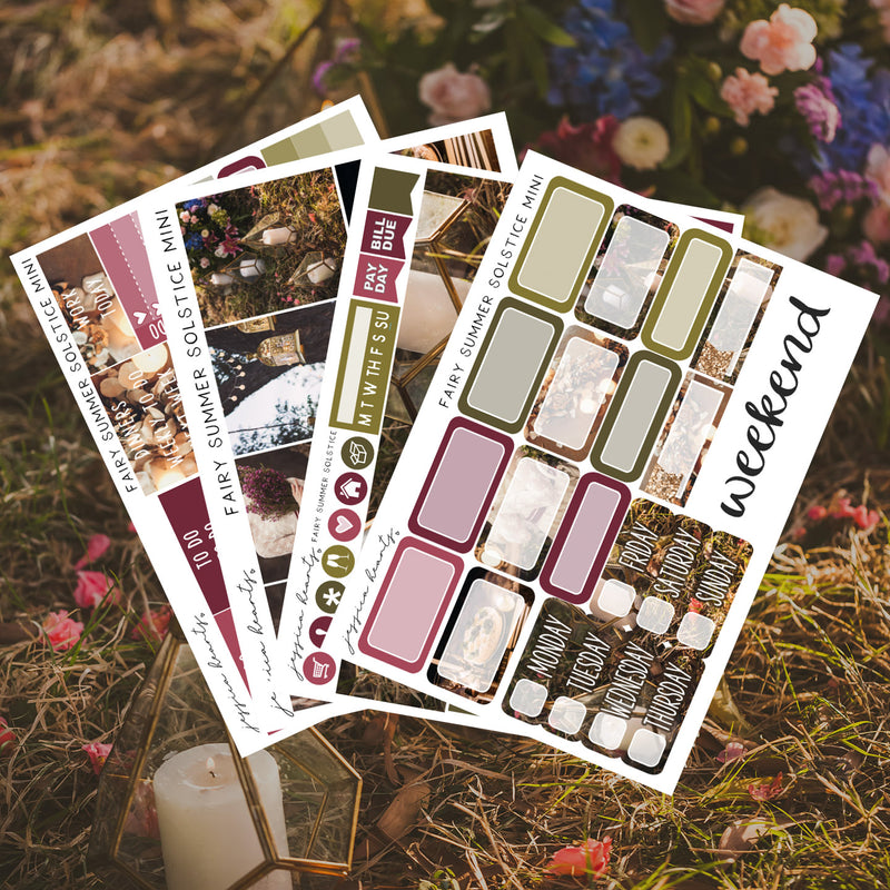 Fairy Summer Solstice MINI Sticker Kit