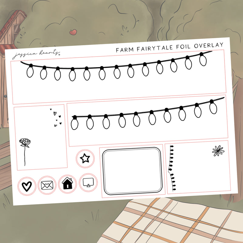 Fairytale Farm Foil Overlay Sticker Sheet (Transparent)