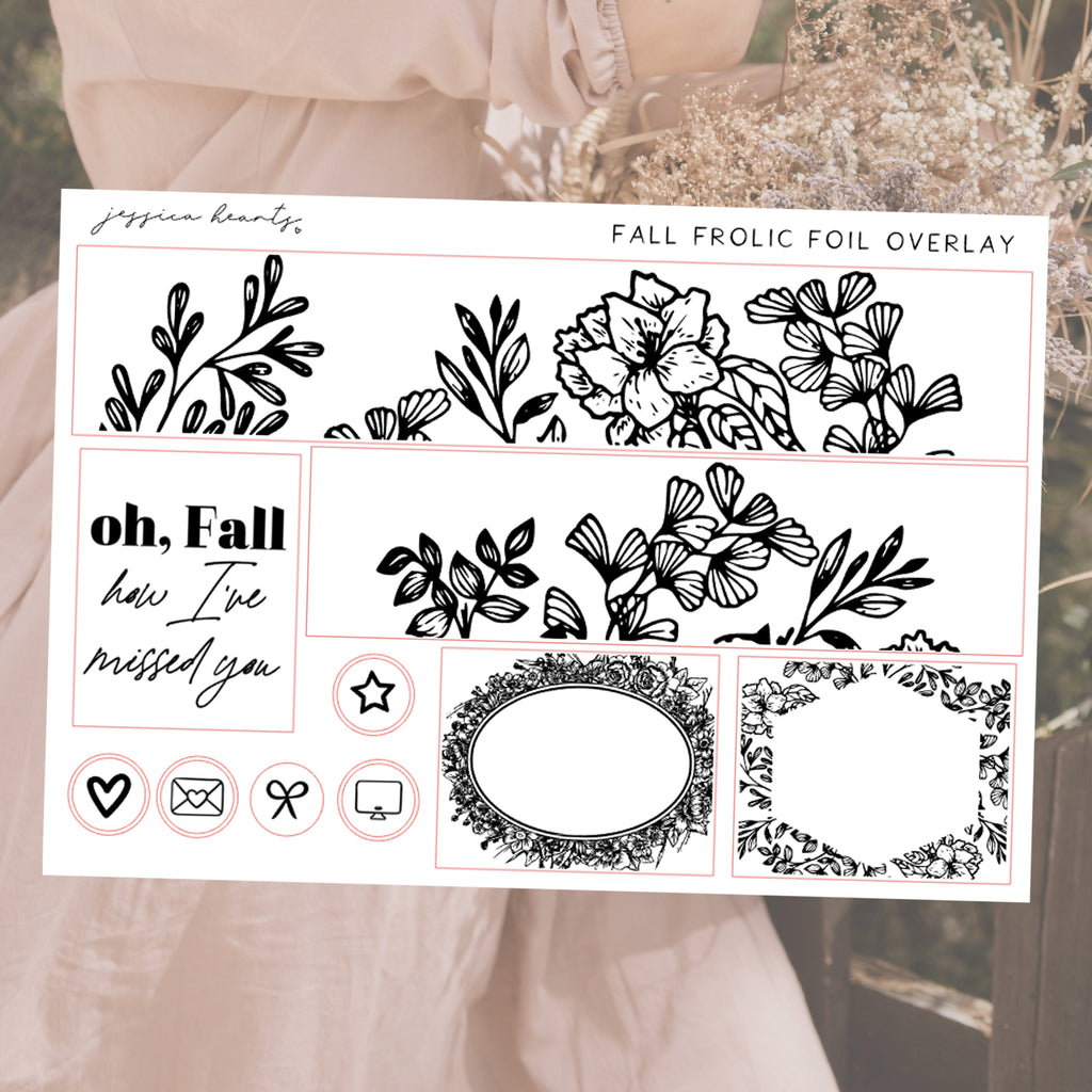Fall Frolic Foil Overlay Sticker Sheet (Transparent)
