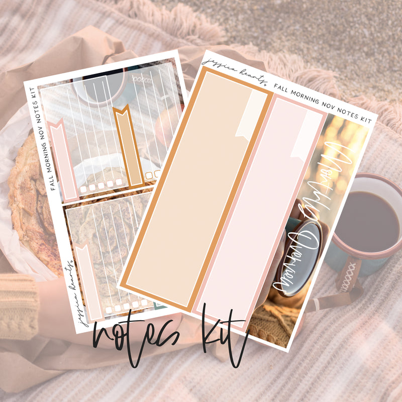 Fall Morning November 2019 Notes Page Kit