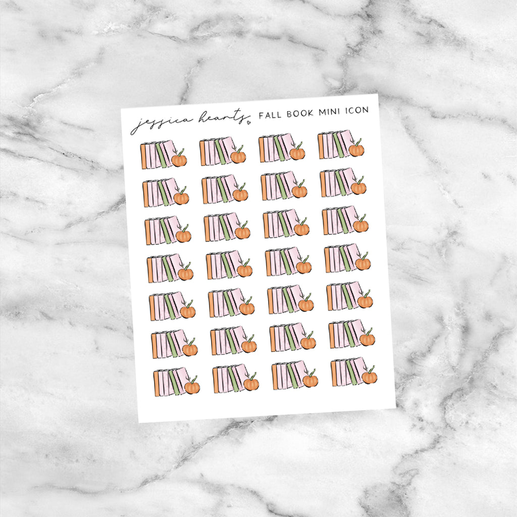 Fall Book Mini Icons (Transparent Matte Paper)