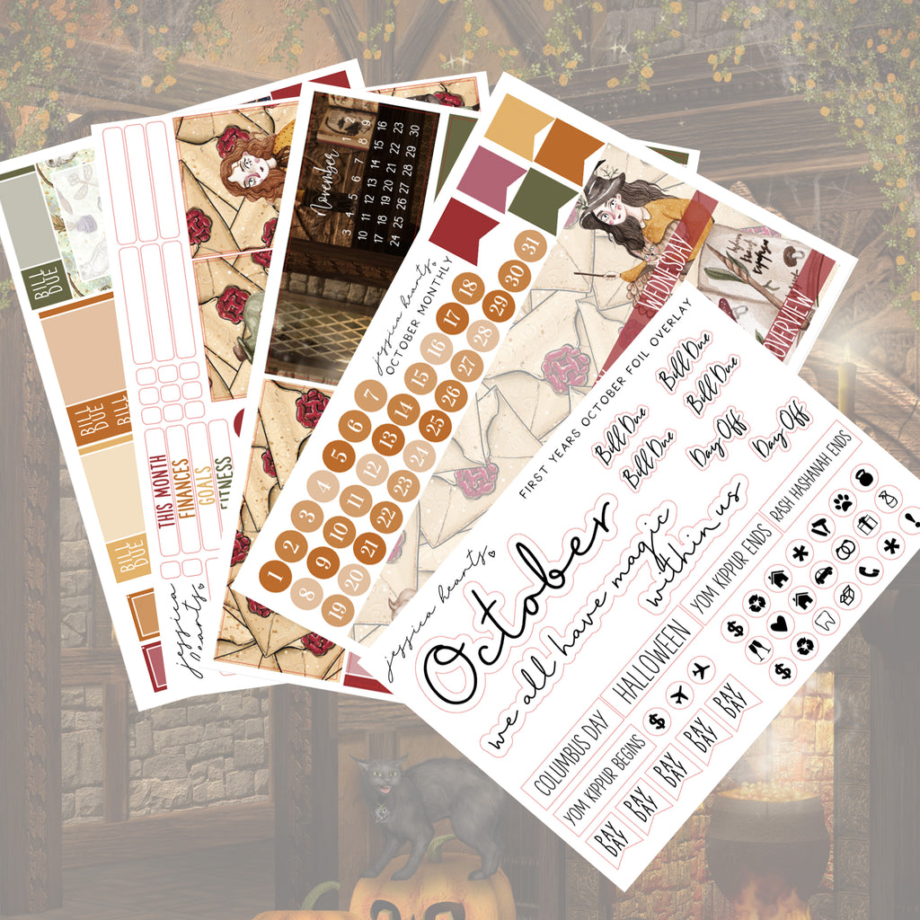First-Year BLANK October Monthly Kit + Foil Overlay