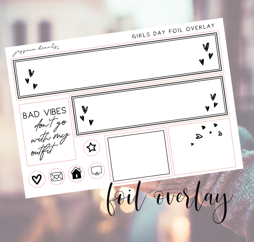 Girls Day Foil Overlay Sticker Sheet (Transparent)