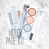 Penguin December Notes Page Kit / Fits Erin Condren Vertical Life Planner