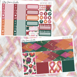 Weekend Vibes Weekly Sticker Kit / Fits Erin Condren Vertical Life Planner
