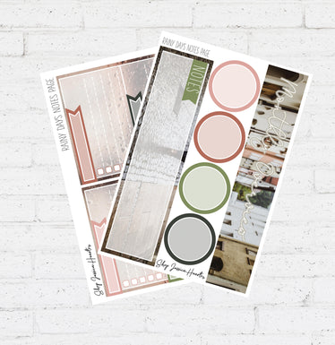 Rainy Days April Notes Page Kit / Fits Erin Condren Vertical Life Planner