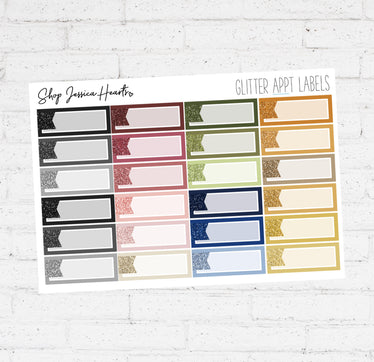 Glitter Appointment Labels / Multicolor Collection