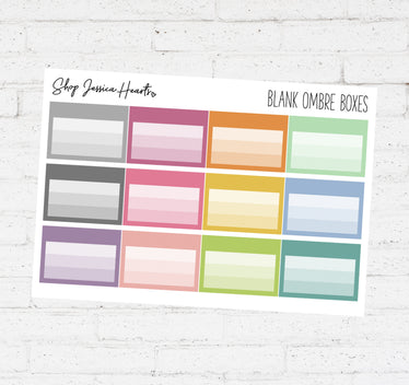 Blank Ombre Labels / Multicolor Collection
