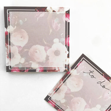 Floral Night Sticky Notes / SJH Exlcusive