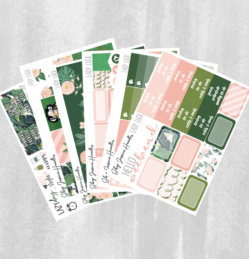 Lady Luck Weekly Sticker Kit / Fits Erin Condren Vertical Life Planner