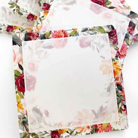 Spring Florals Sticky Notepad