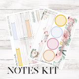 Summer Garden June Notes Page Kit / Fits Erin Condren Vertical Life Planner