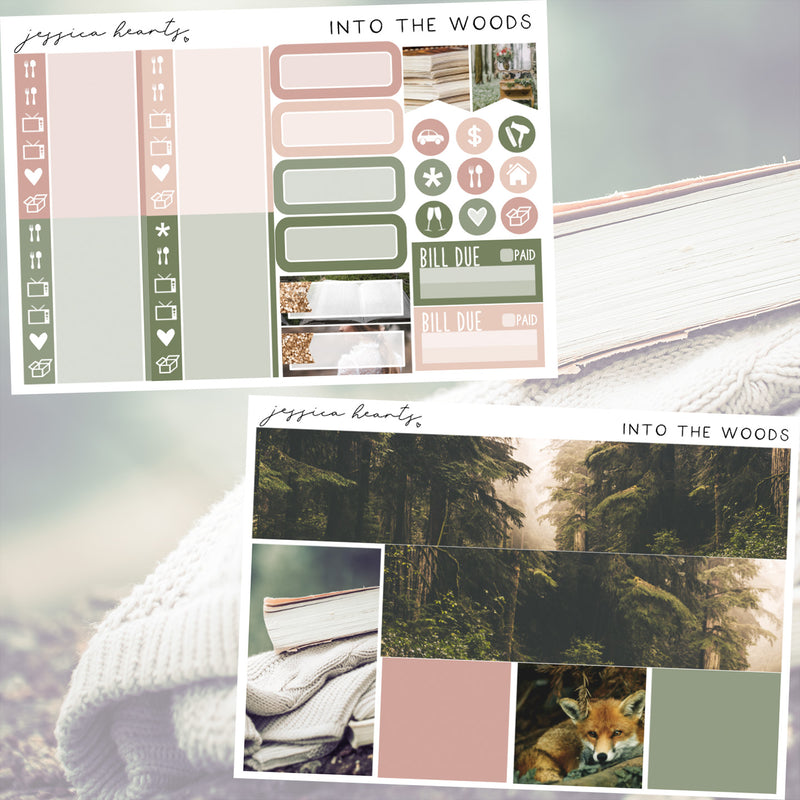 Into the Woods Weekly Sticker Kit