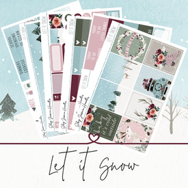 Let it Snow Weekly Sticker Kit