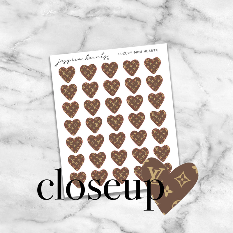 Luxury Hearts Mini Icons (Transparent Matte Paper)