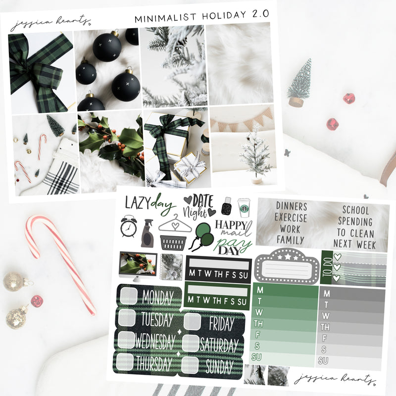 Minimalist Holiday 2.0 Weekly Sticker Kit