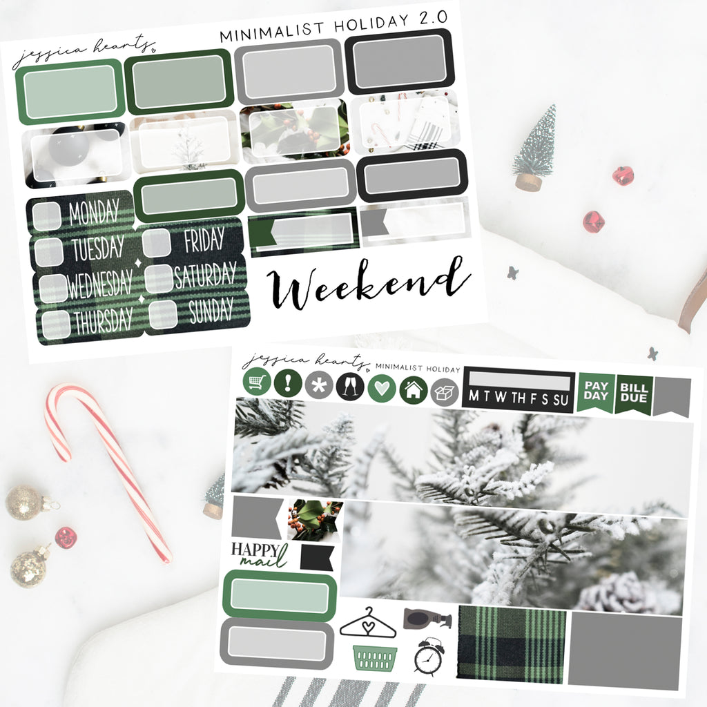 Minimalist Holiday 2.0 MINI Sticker Kit