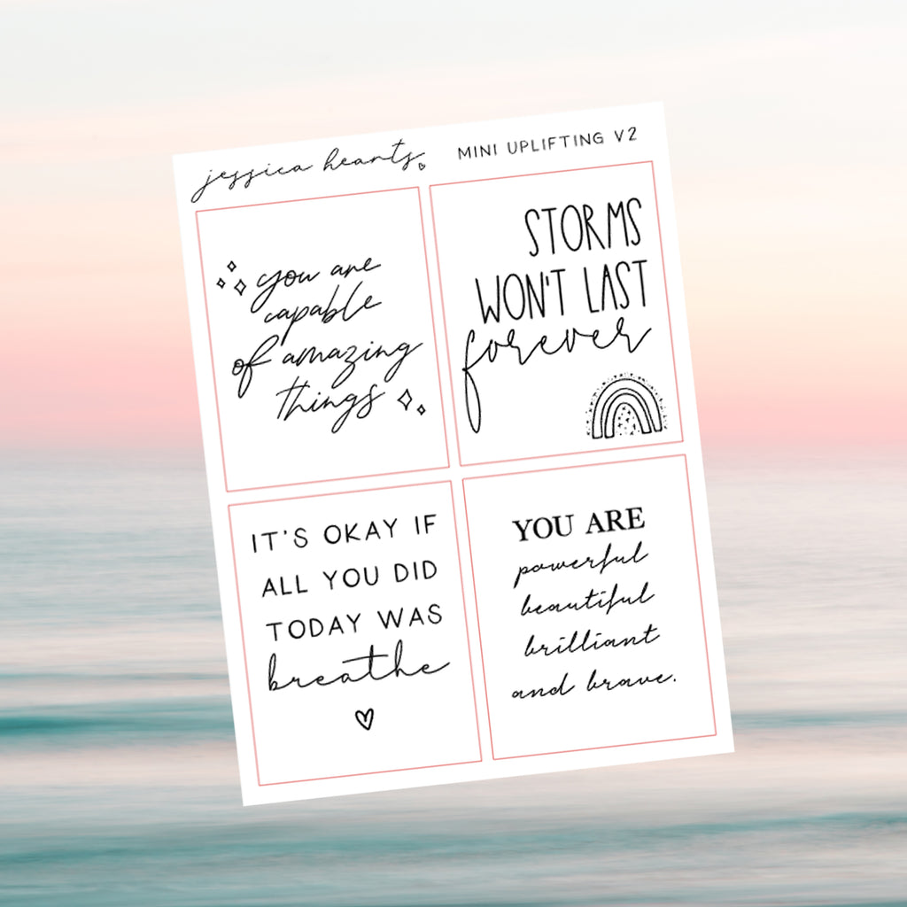 Mini Uplifting Foil Quotes Quarter Sheet V2