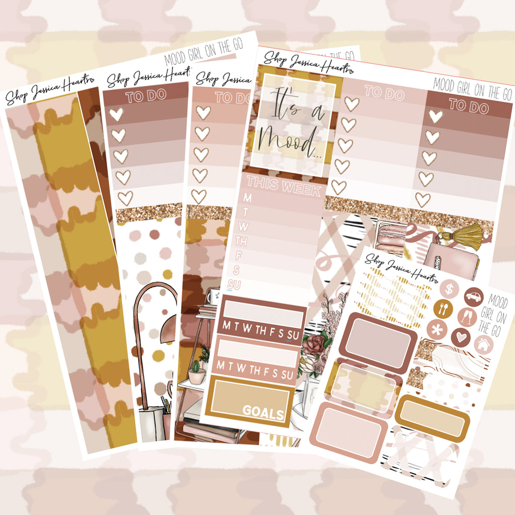 Mood (Girl On the Go Planner Sticker Kit)