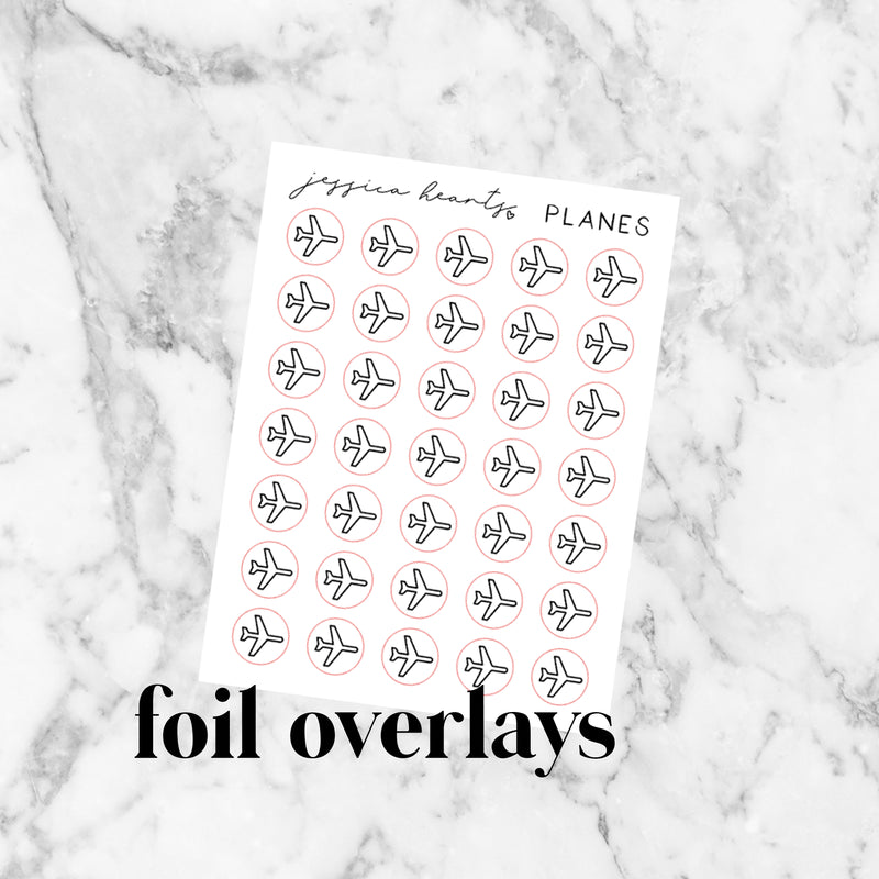 Planes Foil Icon Stickers (Transparent)