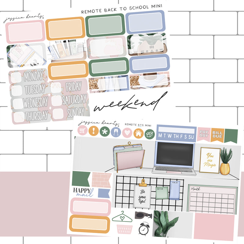 Remote Back to School MINI Sticker Kit