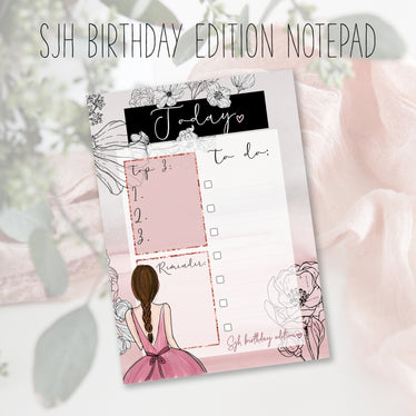 Our 3rd Birthday Limited Edition To Do Notepad, notepad - Jessica Hearts