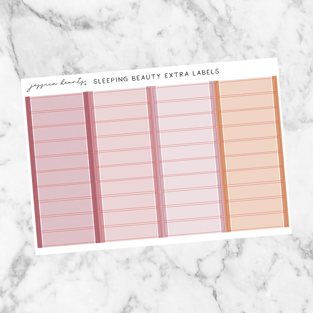Sleeping Beauty Sept Monthly Extra Blank Label Stickers