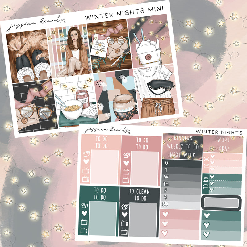 Winter Nights Mini Sticker Kit