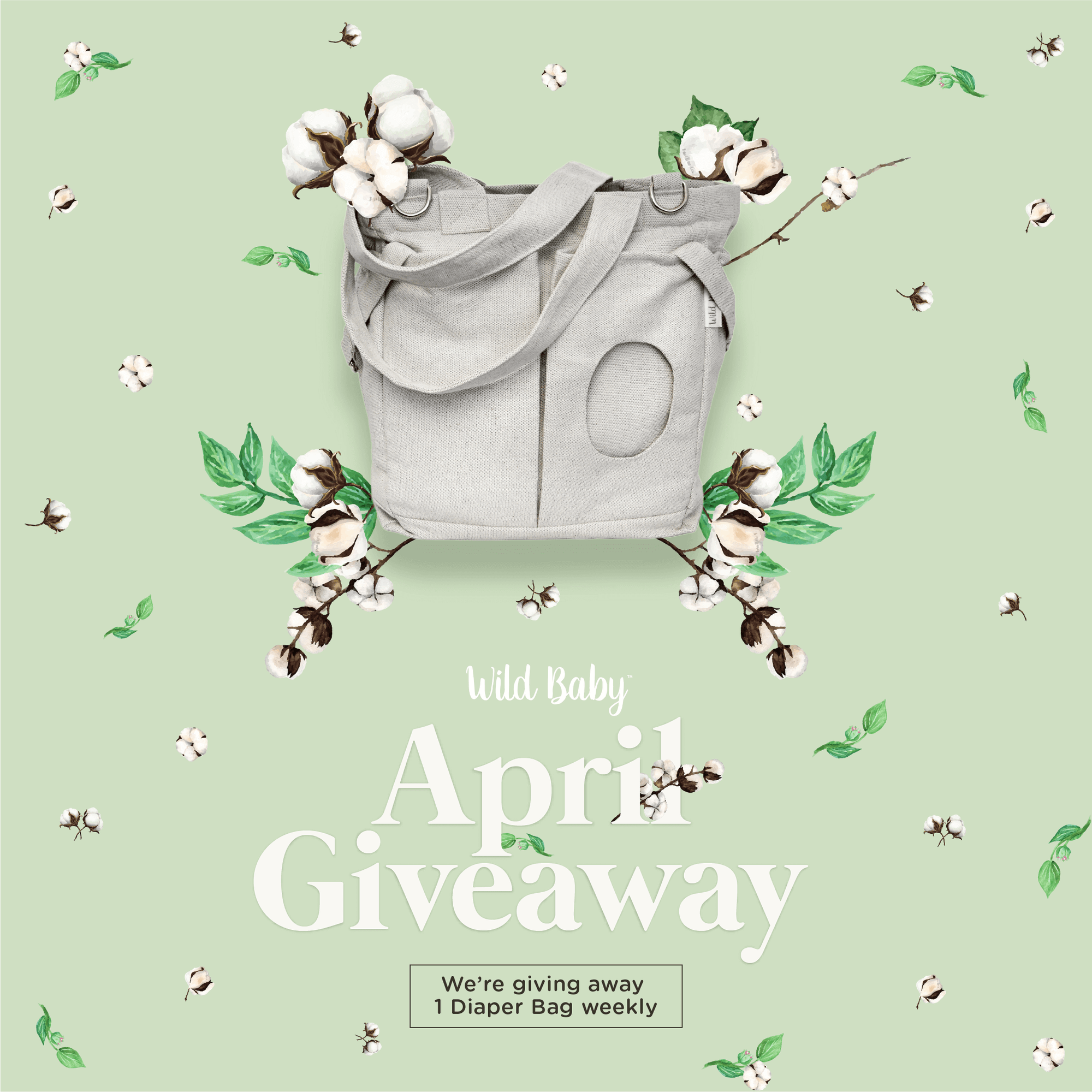 Wild Baby April 2018 Diaper Bag Giveaway