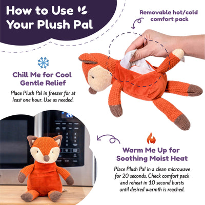 Microwave Plush Pal with Hot Cold Therapy Pack - Knit Fox