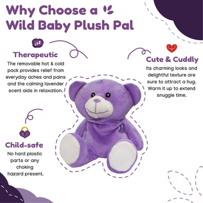 Microwave Plush Pal with Hot Cold Therapy Pack - Bear