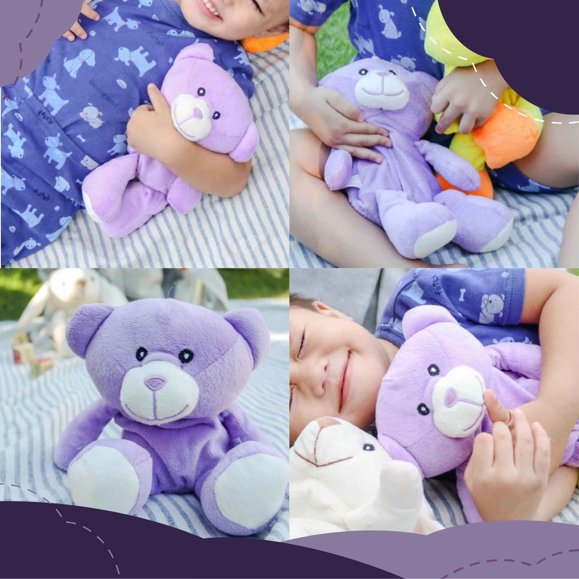 Microwave Plush Pal With Hot Cold Therapy Pack Bear Wild Baby