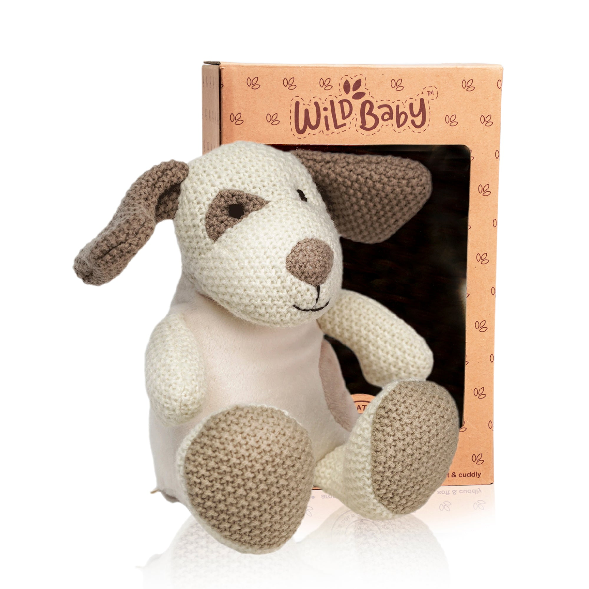 Microwave Plush Pal with Hot Cold Therapy Pack - Knit Puppy