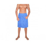 Men's Terry Velour Towel Adjustable Body Wrap for Gym Spa Bath – Made in Turkey