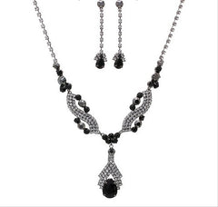 Tear Drop Set Necklace