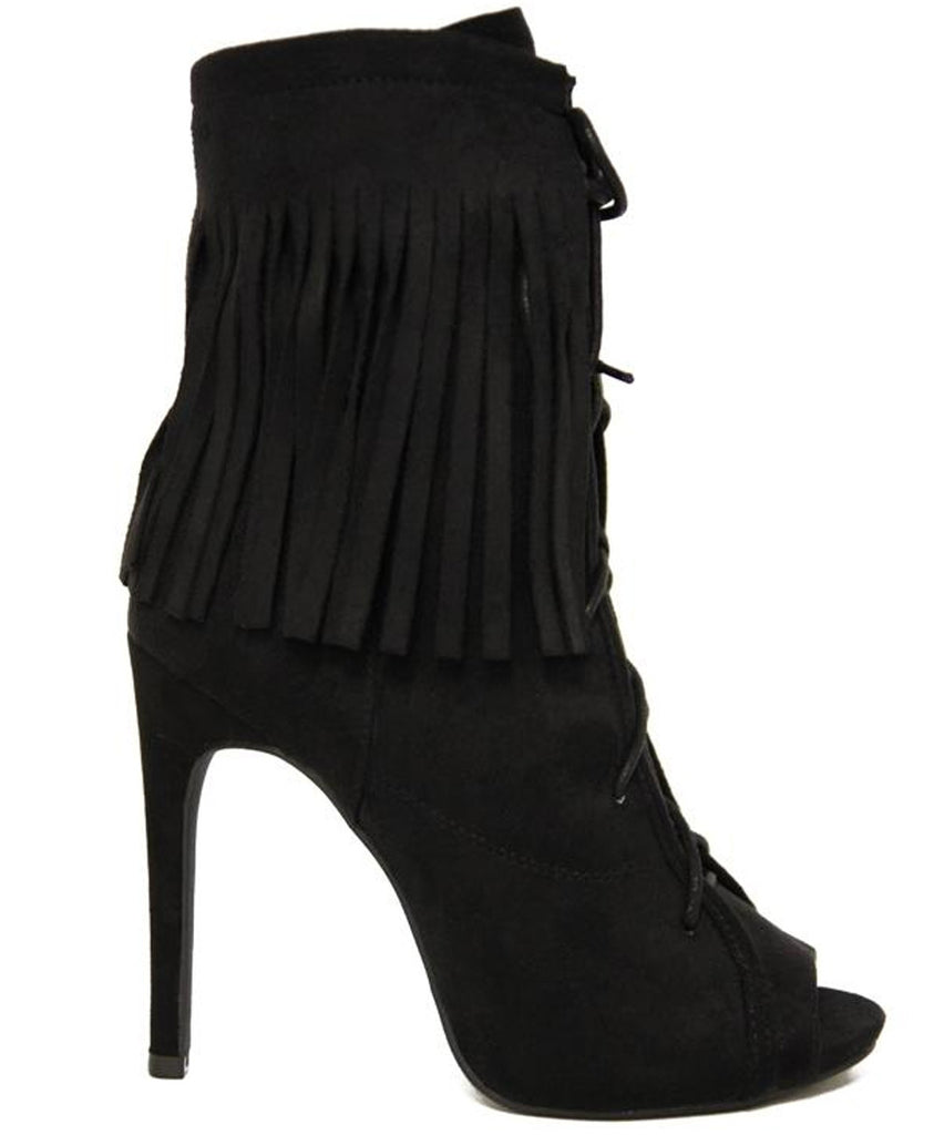 Elena Fringed Ankle Boots