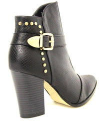 Nicole Ankle Boots with Broad Heel