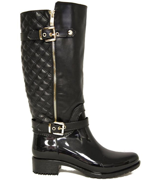 Ronnie Mid-Calf Boots Textured