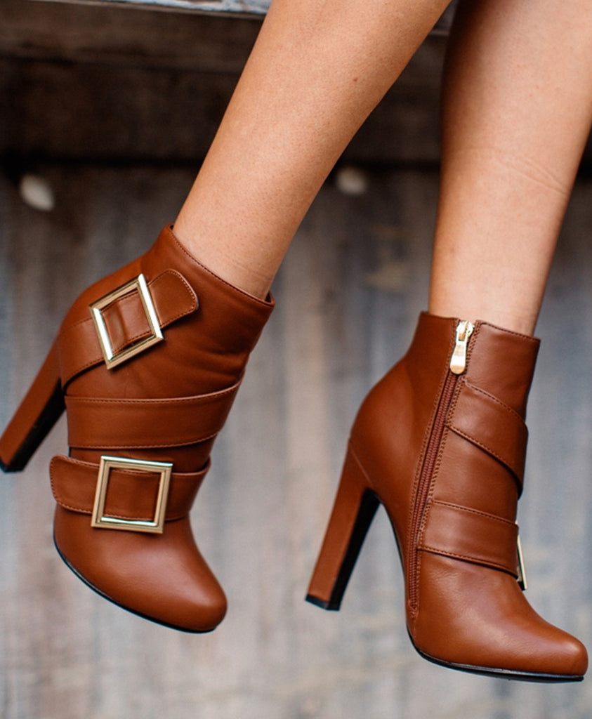 Veronica Ankle Boots Rounded Toe