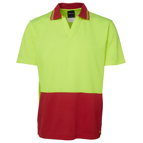 HI VIS NON BUTTON POLO