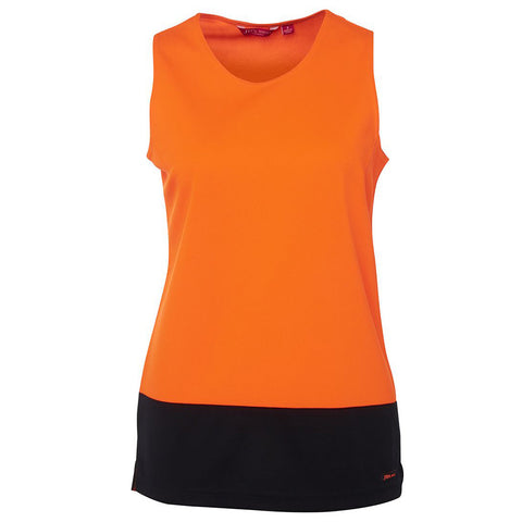 LADIES HI VIS TRADITIONAL SINGLET