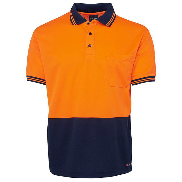 HI VIS TRADITIONAL POLO - SHORT SLEEVE CUFFED