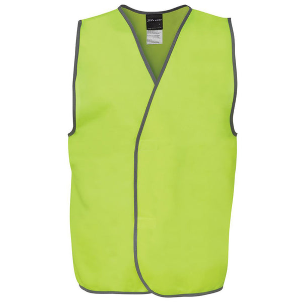 HI VIS SAFETY VEST HOOK CLOSURE