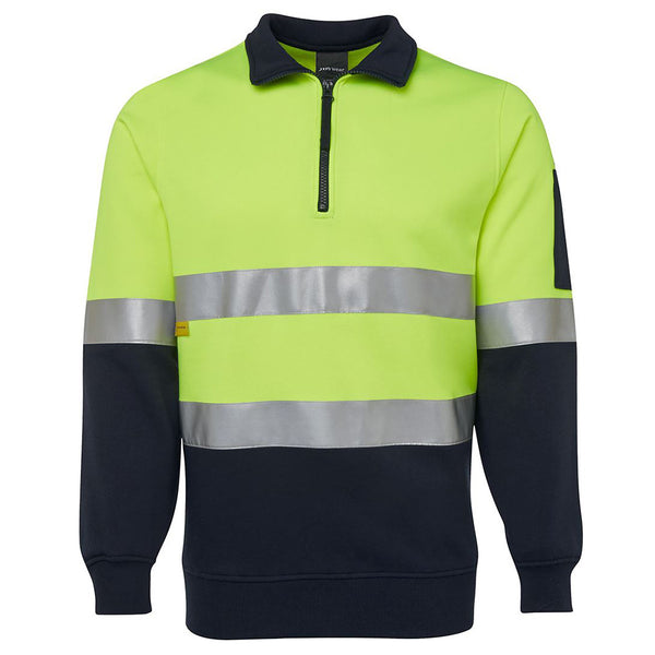 HI VIS 1/2 ZIP (D+N) FLEECY SWEAT - IE