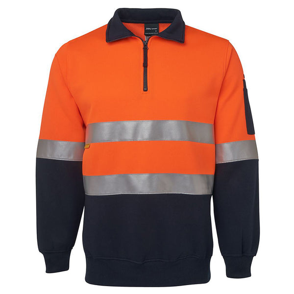 Copy of HI VIS 1/2 ZIP (D+N) FLEECY SWEAT