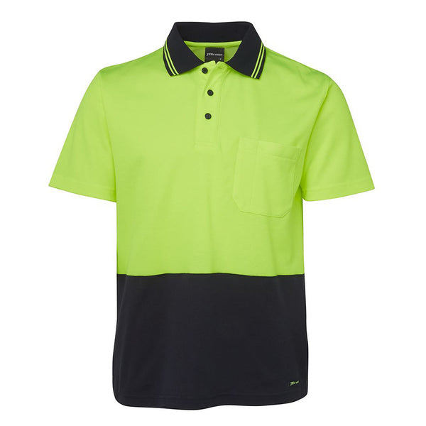 HI VIS NON CUFF COTTON BACK