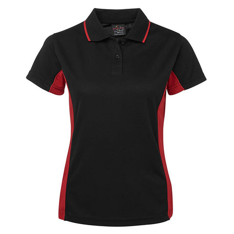 LADIES CONTRAST POLO